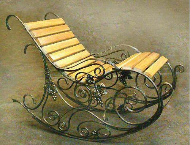 Кресло качалка из металлопрофиля своими руками